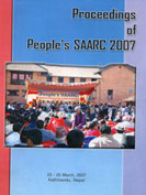 Proceedings of People's SAARC cover sheet